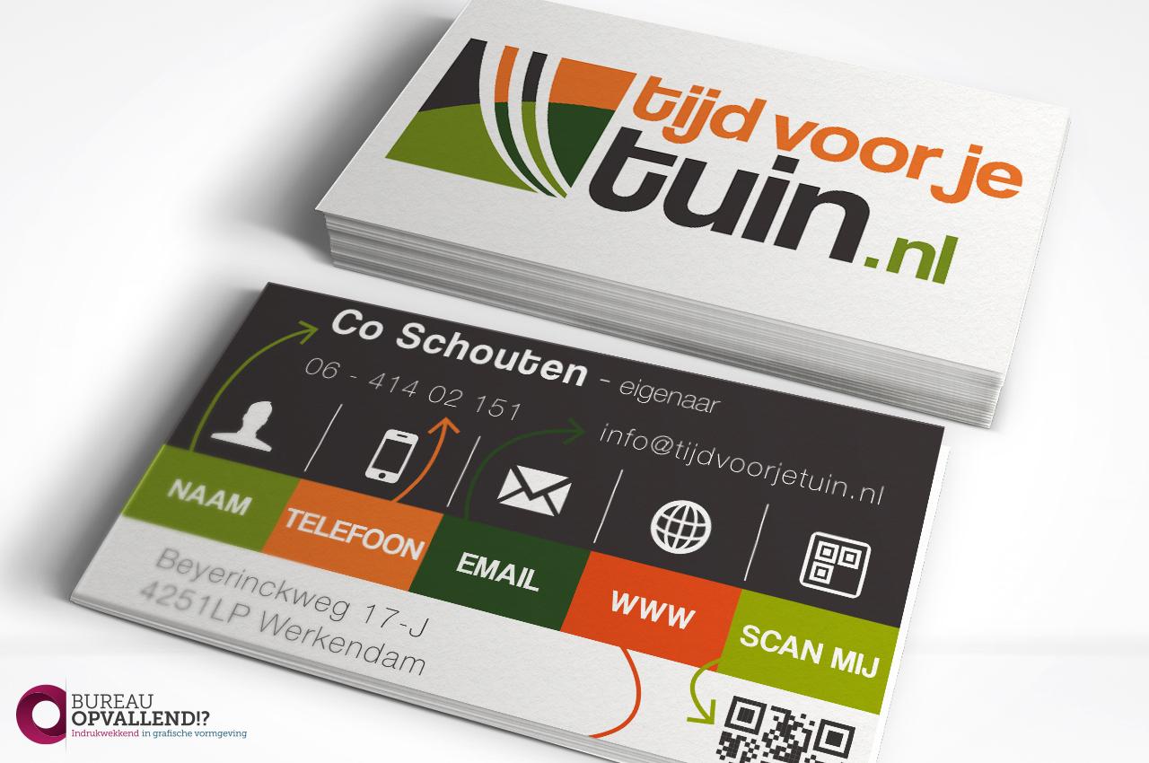 Unieke visitekaartje tijdvoorjetuin.nl