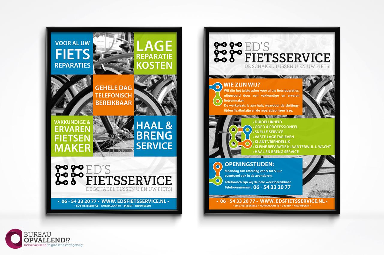 Flyer ontwerp Ed's Fietsservice