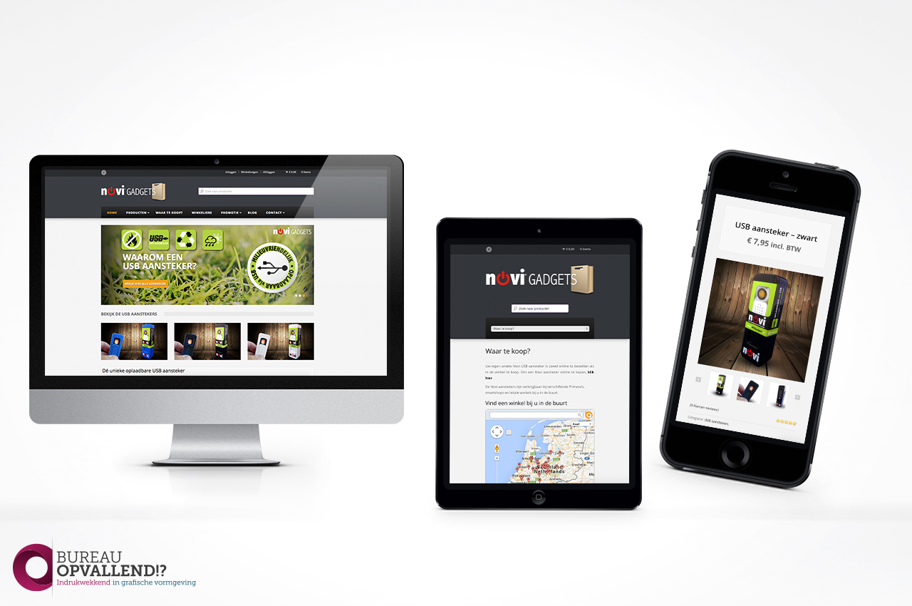 webshop ontwerp novi gadgets. Black Bedroom Furniture Sets. Home Design Ideas