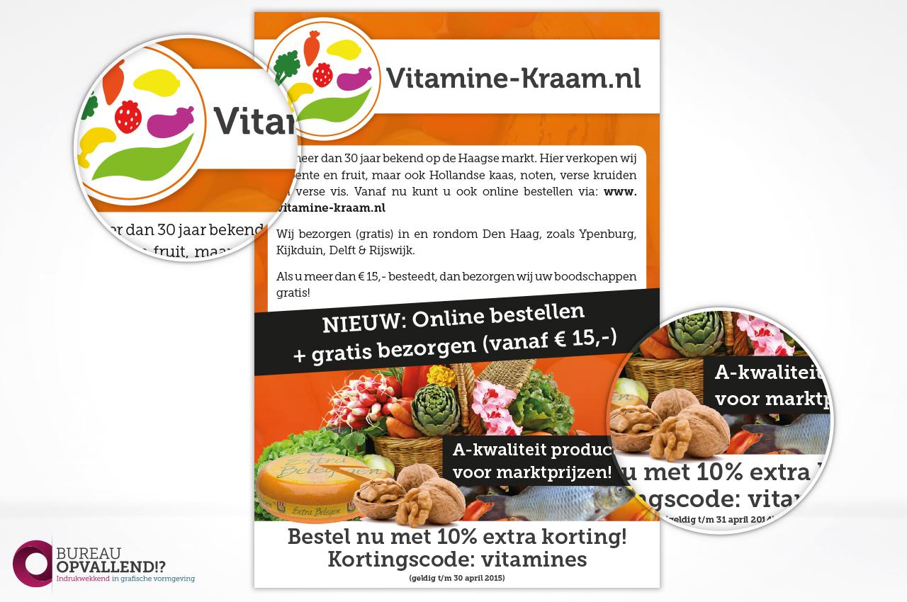 Flyer ontwerp Vitamine-kraam.nl