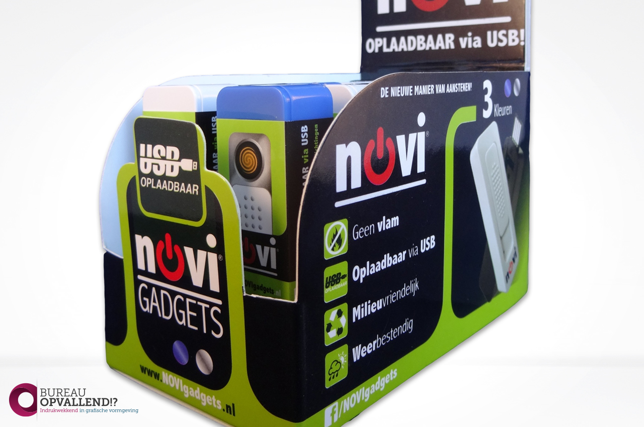 Display ontwerp NOVIgadgets